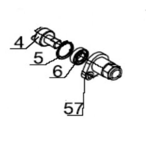 Рычаг и ось разблокировки привода ASI100 (арт. ASI.302)